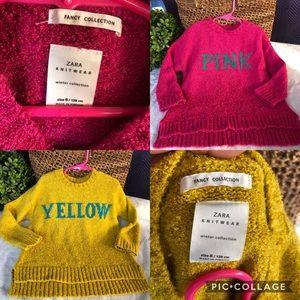 Zara girl sweaters
